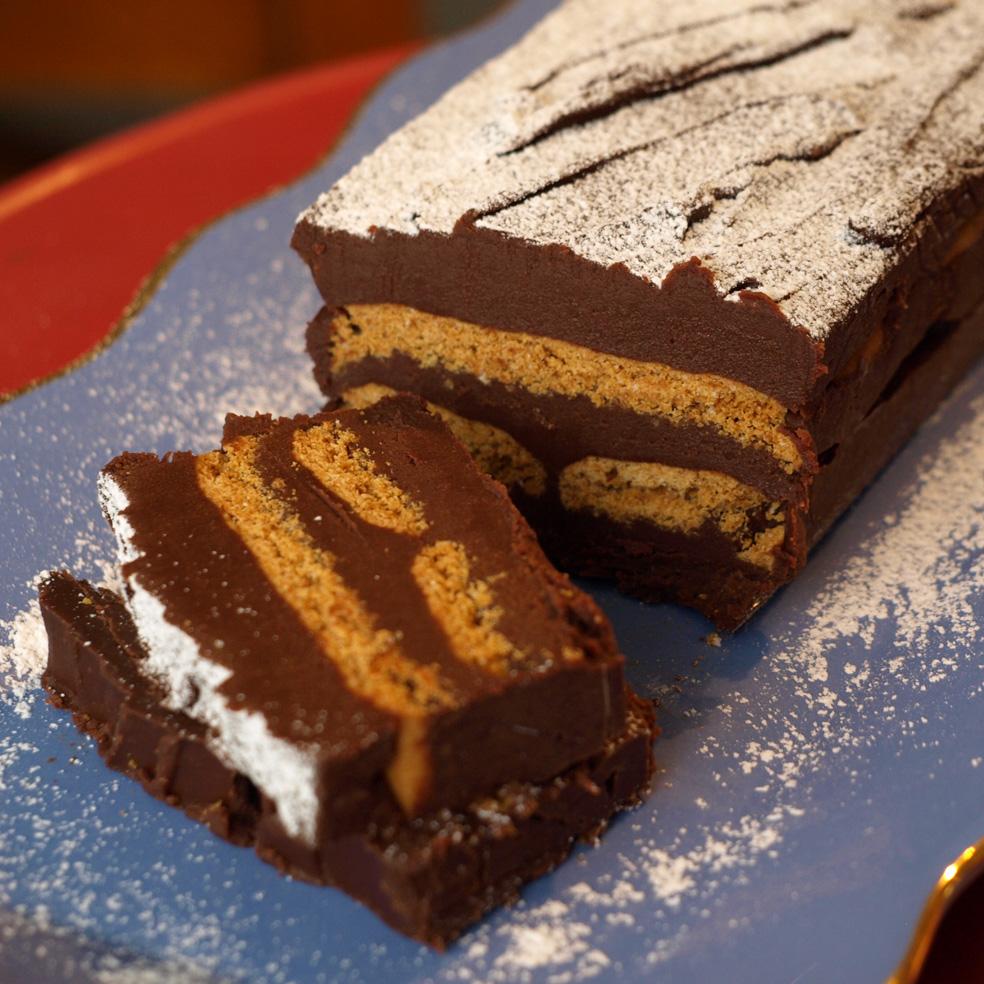 Terrine au chocolat et petits beurre - Sourires et Chocolats